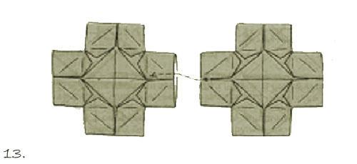 """Оригами)Простая кусудама  """"Тройной блинчик """" ."""