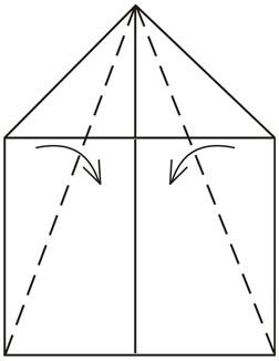 """Оригами для детей """"Пассажирский самолет"""""""