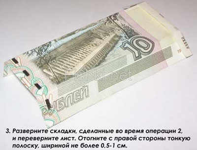 Оригами из денег - рубашка на