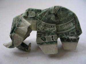 Слон манигами