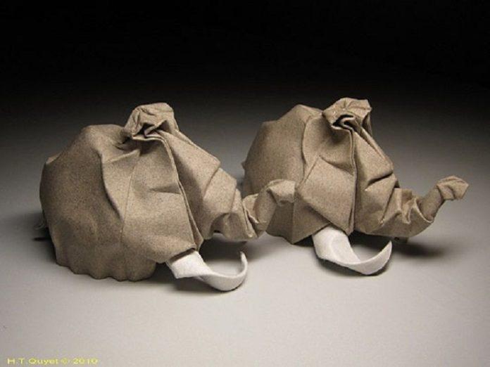 Мокрое складывание в оригами