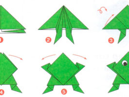 Схема оригами «Лягушка»