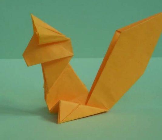 Оригами для детей Белка