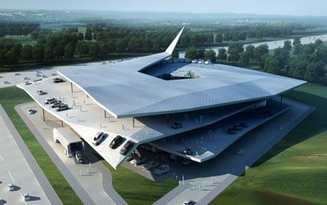 Автомобильный музей в духе оригами