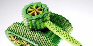 Как сделать оригами танк из бумаги