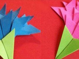Гвоздики оригами