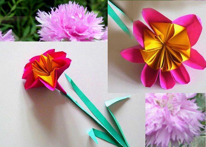 Гвоздичка оригами