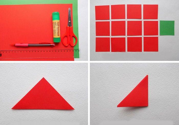 Нарезать и согнуть квадраты