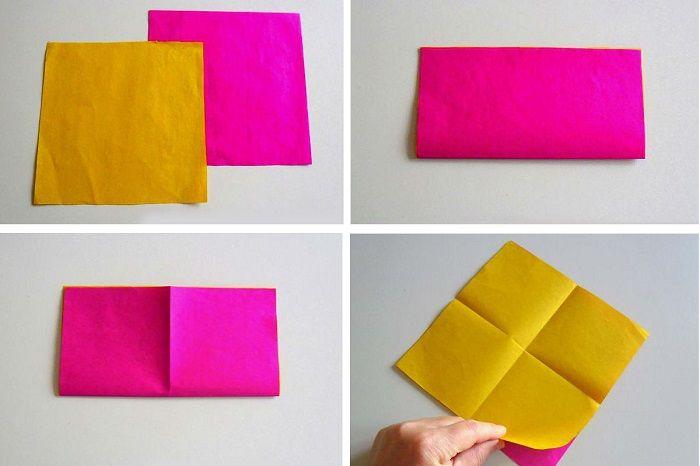 Сложить и согнуть листы бумаги