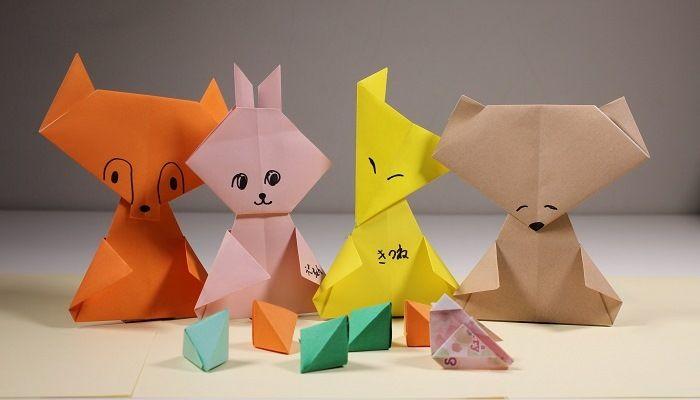Простые фигурки оригами