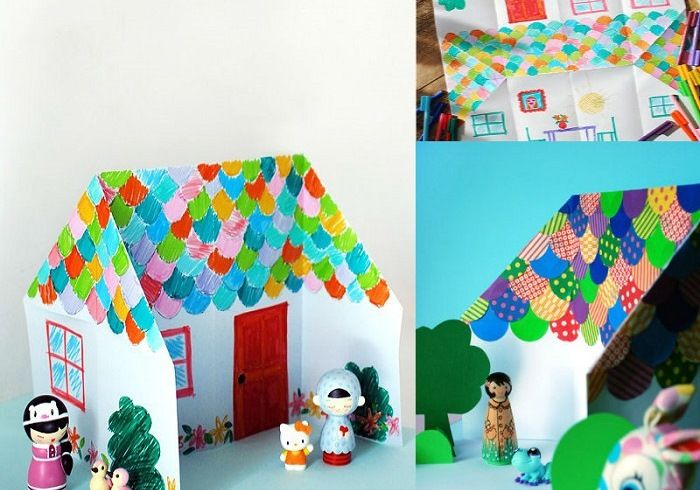 Простой домик-оригами