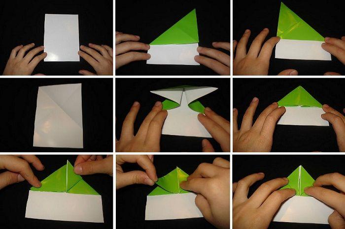 Как сложить лягушку из бумаги