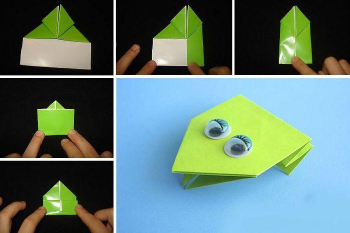 Лягушка - оригами