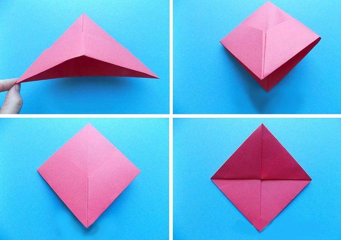 Складывание кораблика из бумаги