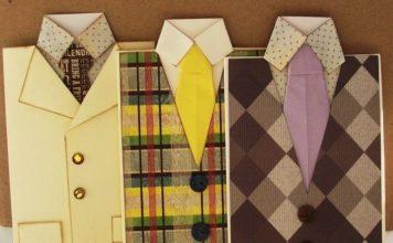 Рубашка с галстуком оригами