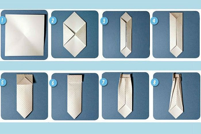 Схема изготовления галстука