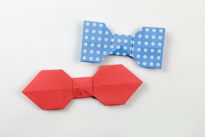 Галстуки - бабочки из бумаги