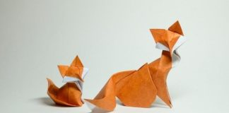 Лисичка оригами