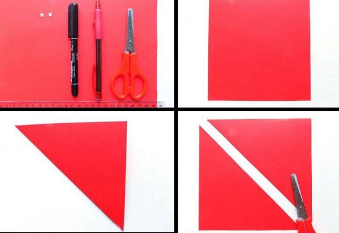 Квадрат по диагонали