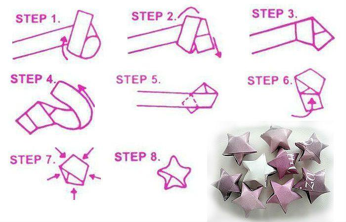 Схема сборки объемной звезды
