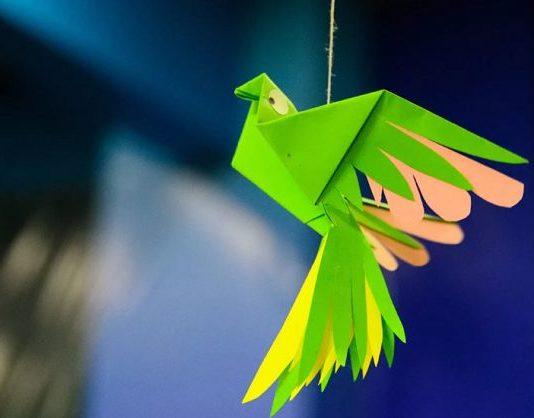 Птица - оригами