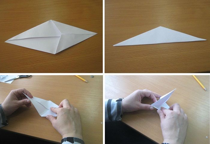 Жар-птица оригами: этапы складывания 5-8