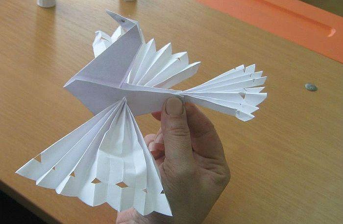 Жар-птица из бумаги