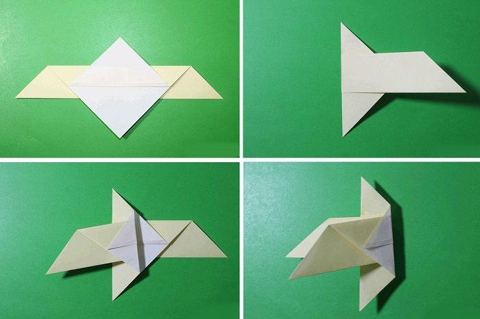 Голубь-оригами: этапы складывания 5-8