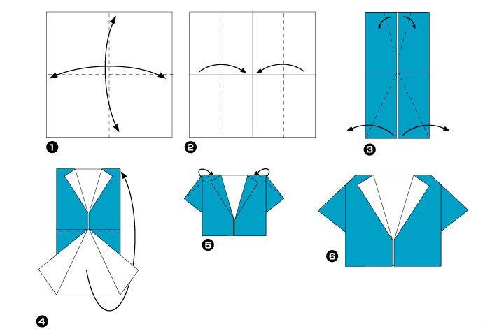 Открытка оригами рубашка для папы, что нового прикольные