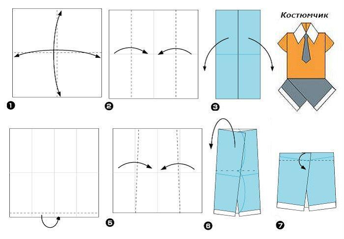 Схема открытки костюм