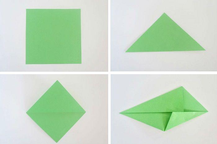 Как сложить лист: этап 1-4