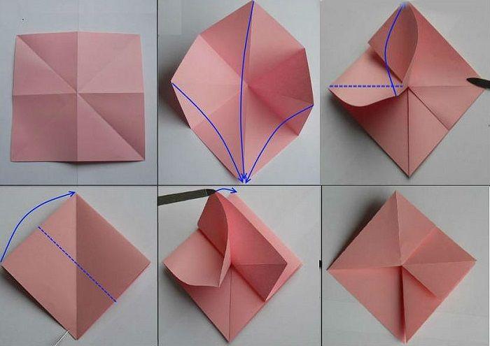 Роза из бумаги: 1-6
