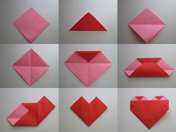 Подарочное сердечко из бумаги