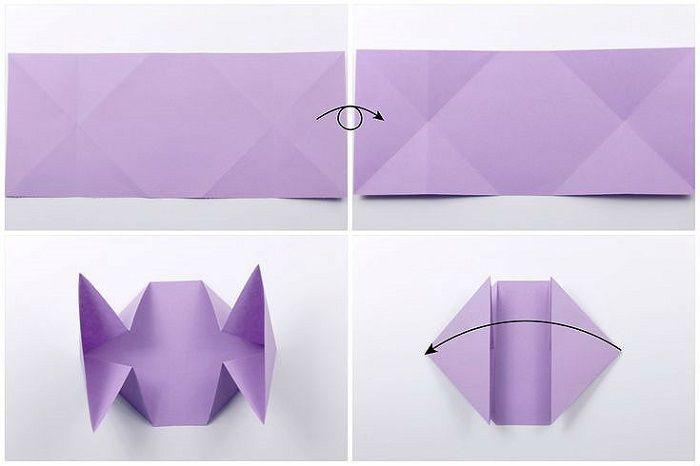 Сердце с цветком из бумаги: шаги 9-12
