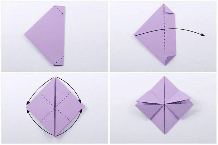 Сердце с цветком из бумаги: шаги 13-16
