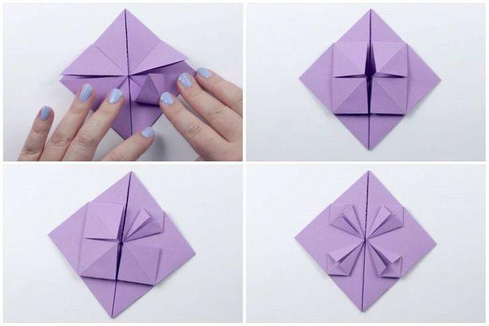 Сердце с цветком из бумаги: шаги 17-20