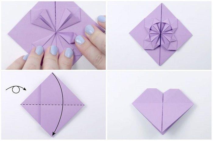 Сердце с цветком из бумаги: шаги 21-24