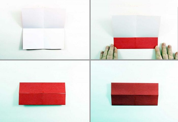 Сердечко-оригами с крылышками: шаги 5-8