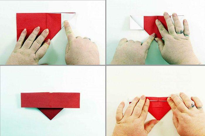 Сердечко-оригами с крылышками: шаги 9-12