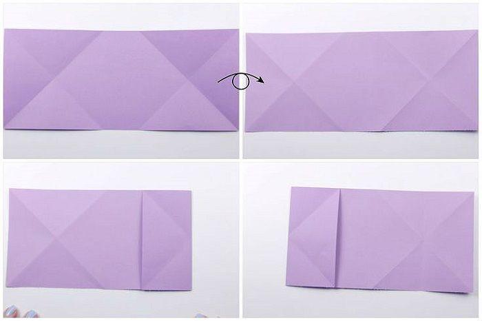 Сердце с цветком из бумаги: шаги 5-8