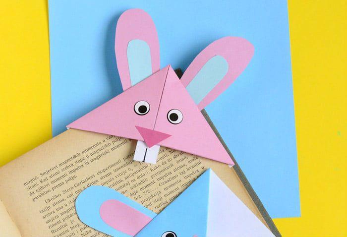 """Закладка - оригами """"Заяц"""""""