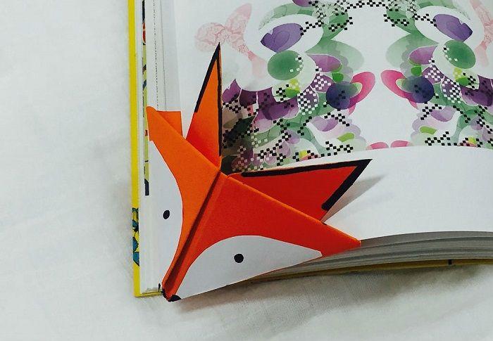 """Оригами-закладка """"Лиса"""""""