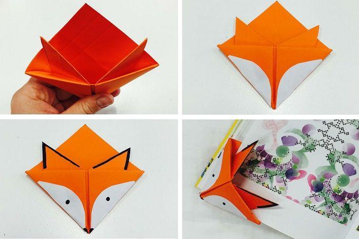 Складывание закладки из бумаги: шаги 7-10