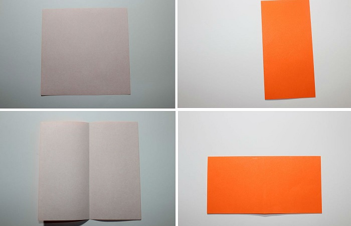 Сборка журавля из бумаги: 1-4 шаг