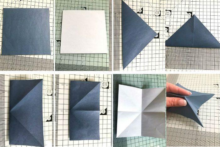 Бабочка оригами: этапы складывания 1-8