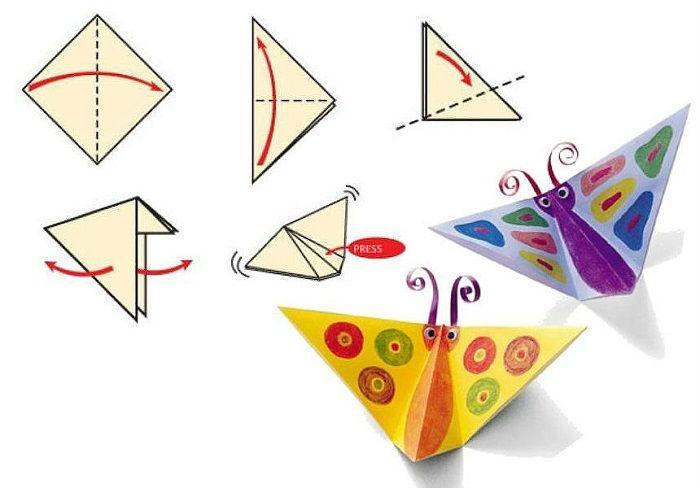 Бабочка оригами (схема сборки)