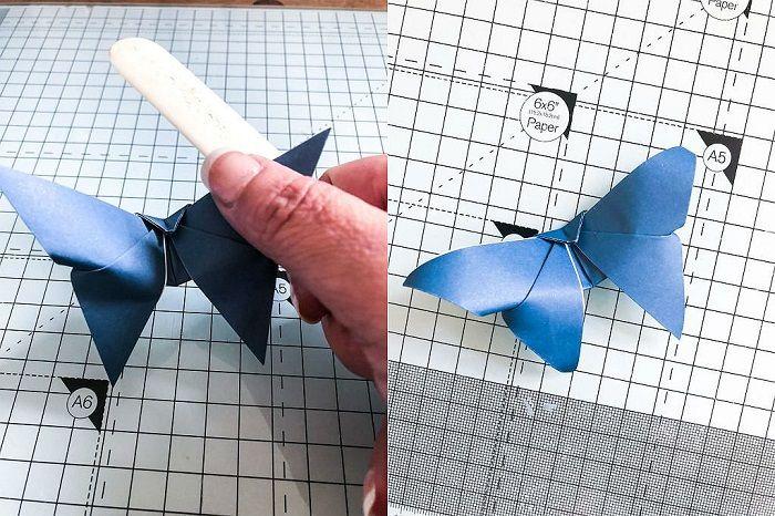 Бабочка оригами: этапы складывания 17-18