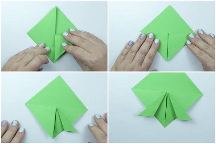 Черепаха оригами: этапы складывания 5-8