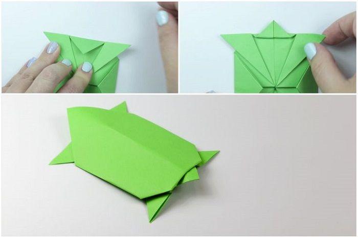 Черепаха оригами: этапы складывания 13-15