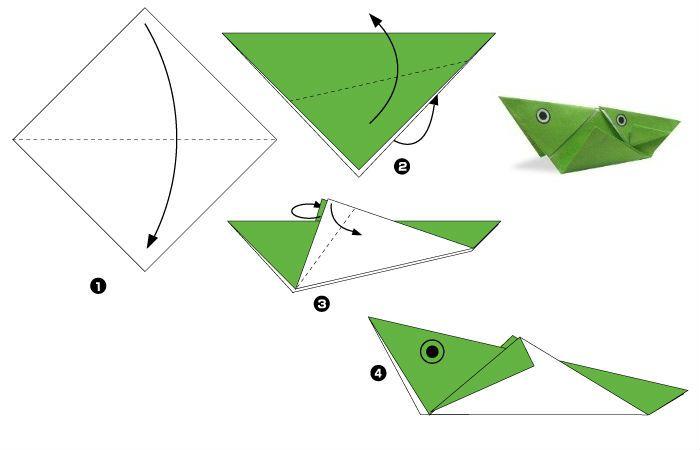Кузнечик оригами (схема)